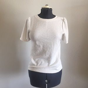 GUC LOFT | Textured white blouse